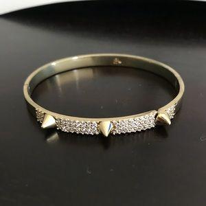 Banana Republic Gold/Crystal Cuff Bangle Bracelet